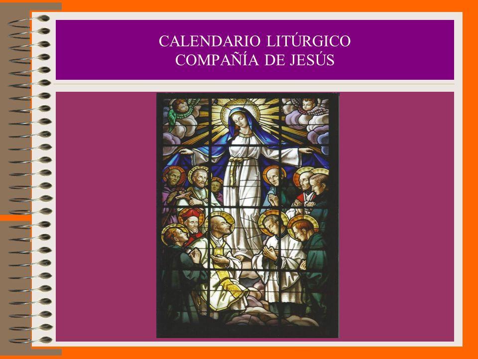 CALENDARIO LITÚRGICO COMPAÑÍA DE JESÚS