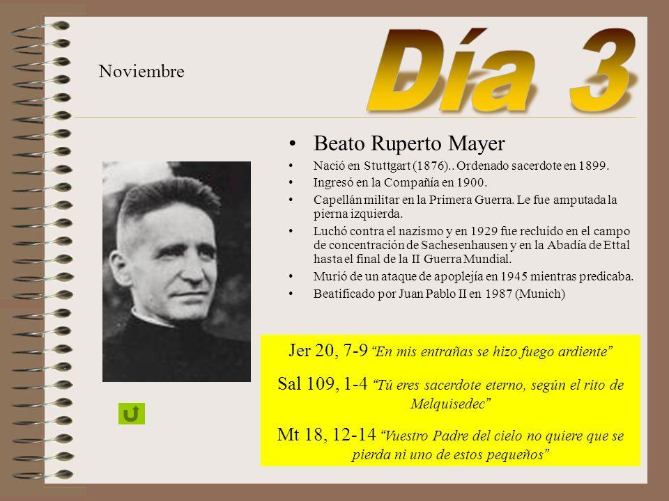 Día 3 Beato Ruperto Mayer Noviembre