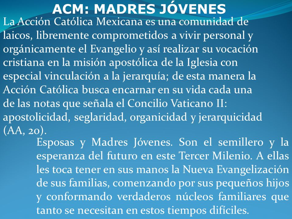 ACM: MADRES JÓVENES