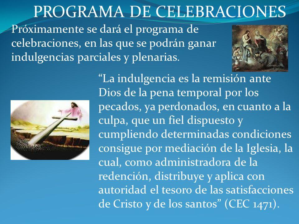 PROGRAMA DE CELEBRACIONES