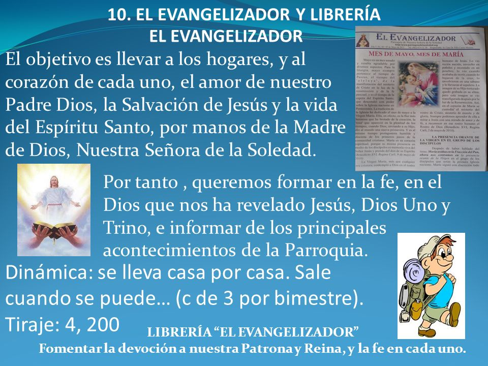 10. EL EVANGELIZADOR Y LIBRERÍA