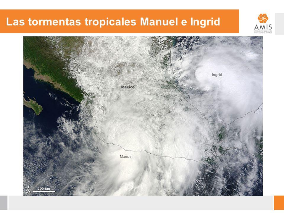 Las tormentas tropicales Manuel e Ingrid