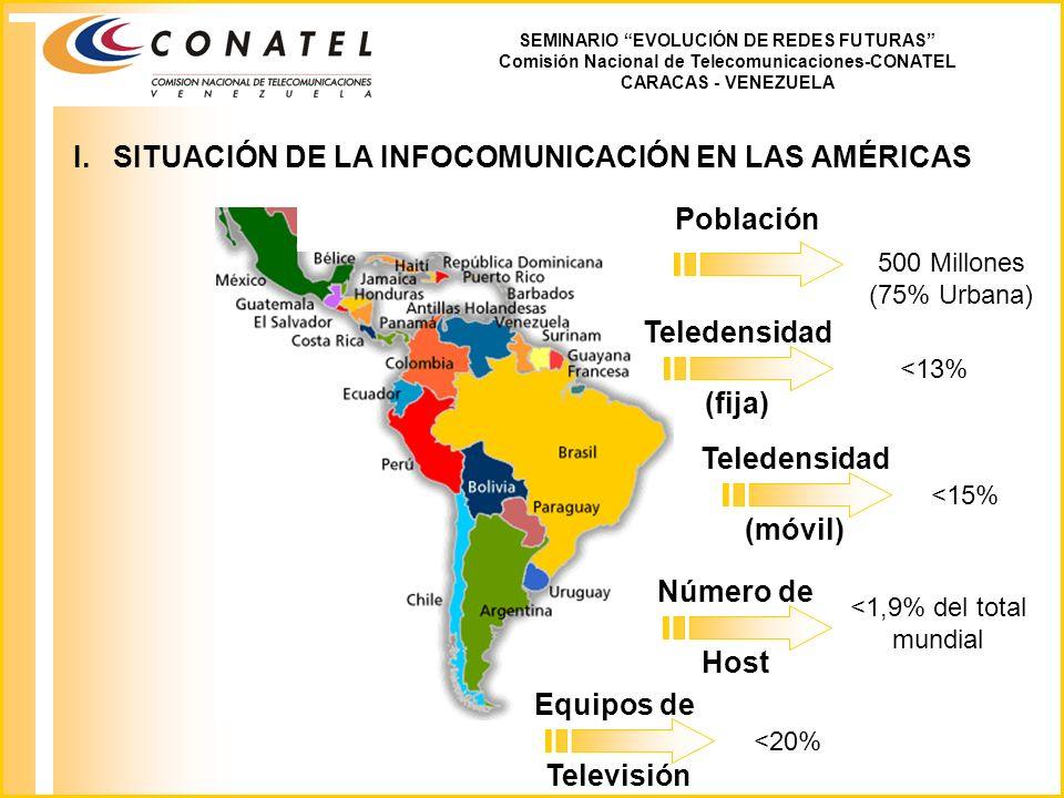 I. SITUACIÓN DE LA INFOCOMUNICACIÓN EN LAS AMÉRICAS