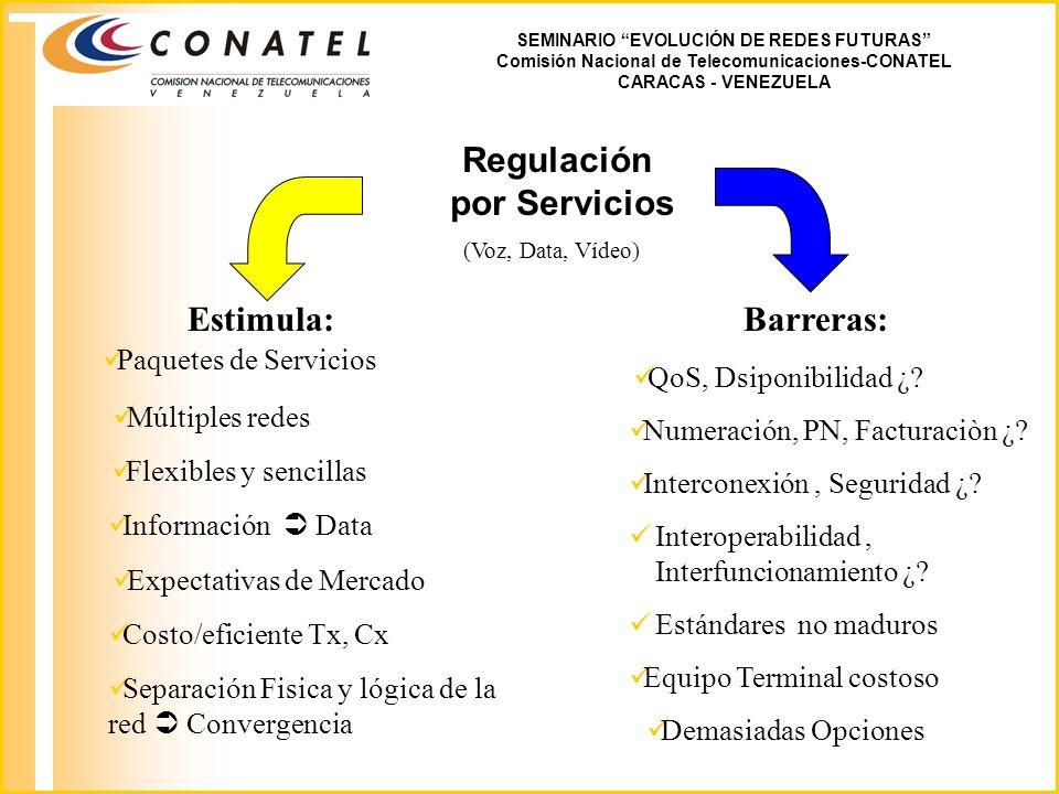 Regulación por Servicios