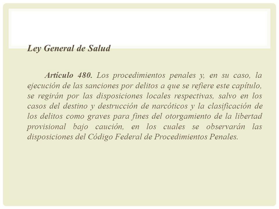 Ley General de Salud Artículo 480