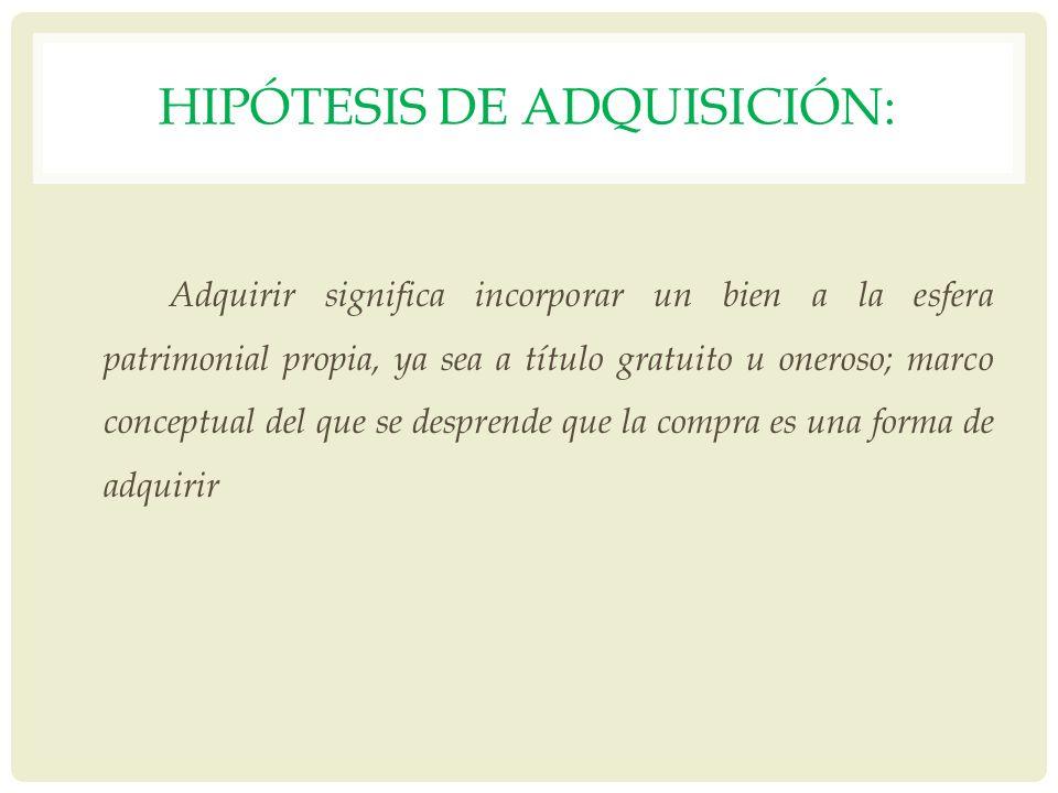 Hipótesis de adquisición: