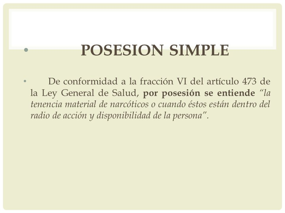 POSESION SIMPLE