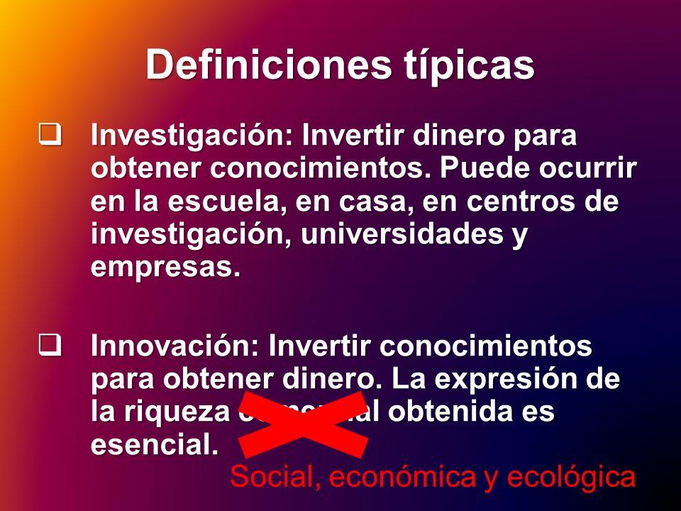 Definiciones típicas