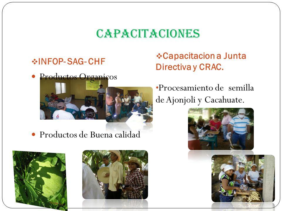 capacitaciones Procesamiento de semilla de Ajonjoli y Cacahuate.