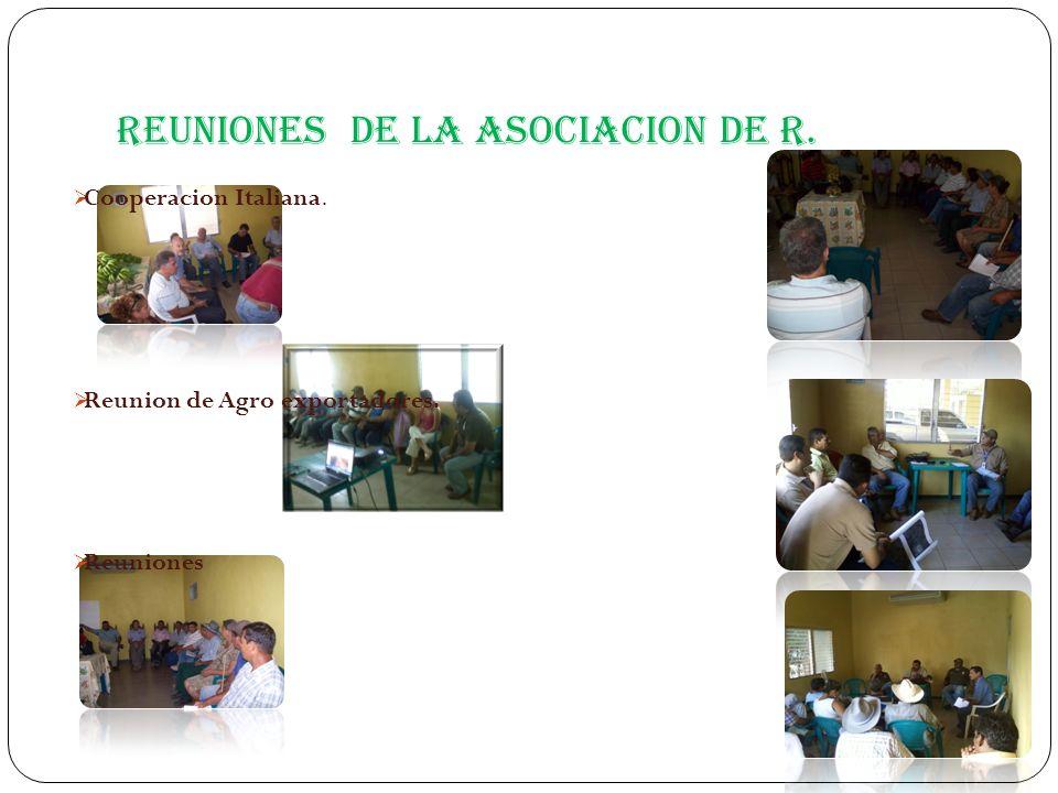 Reuniones de la Asociacion de R.