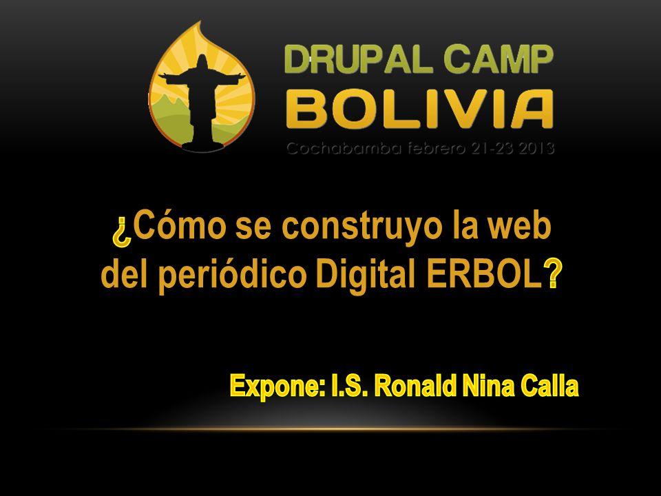 ¿Cómo se construyo la web del periódico Digital ERBOL