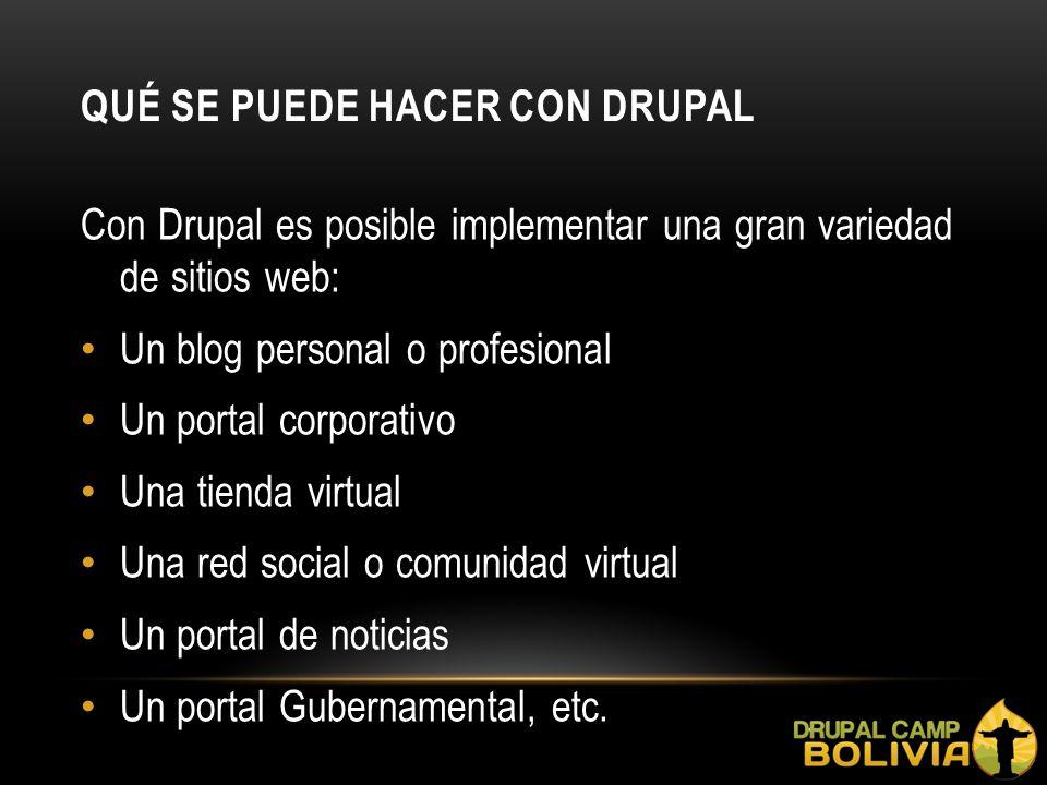 qué se puede hacer con Drupal