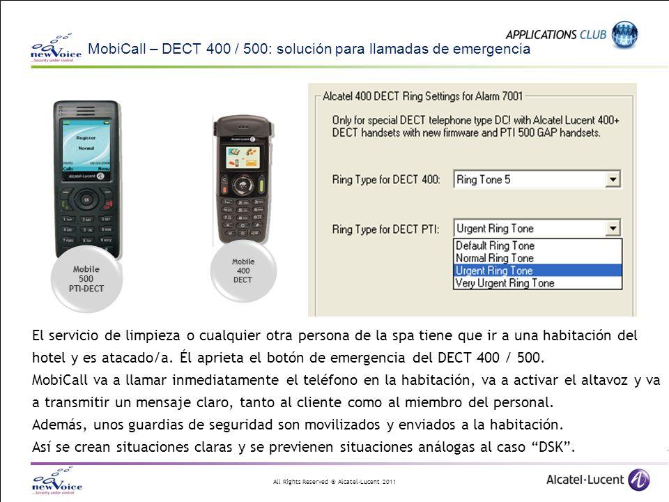 MobiCall – DECT 400 / 500: solución para llamadas de emergencia