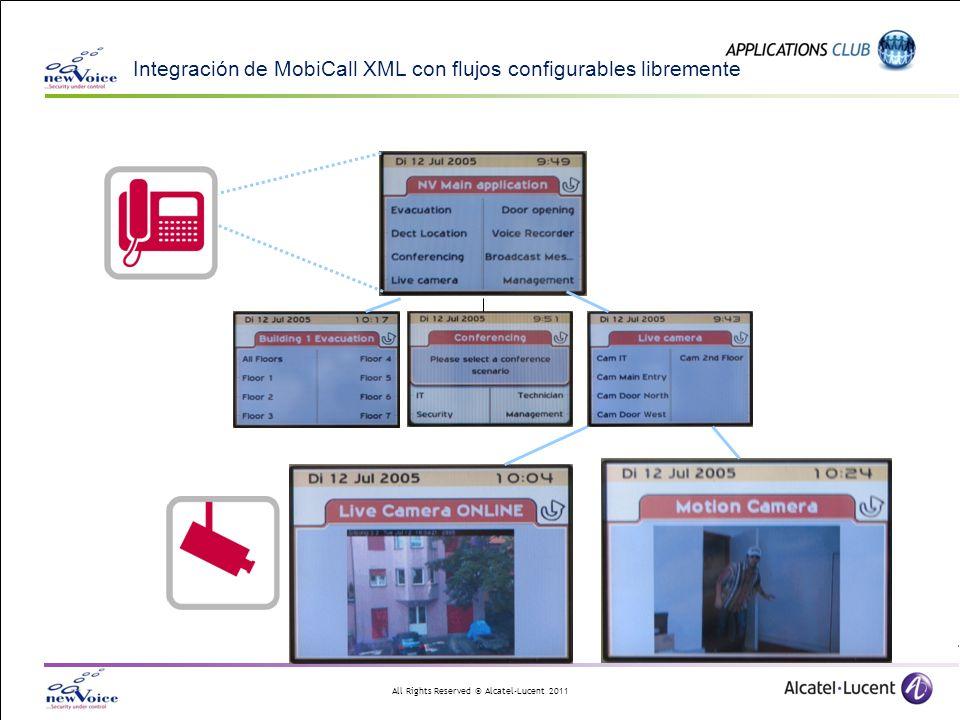 Integración de MobiCall XML con flujos configurables libremente