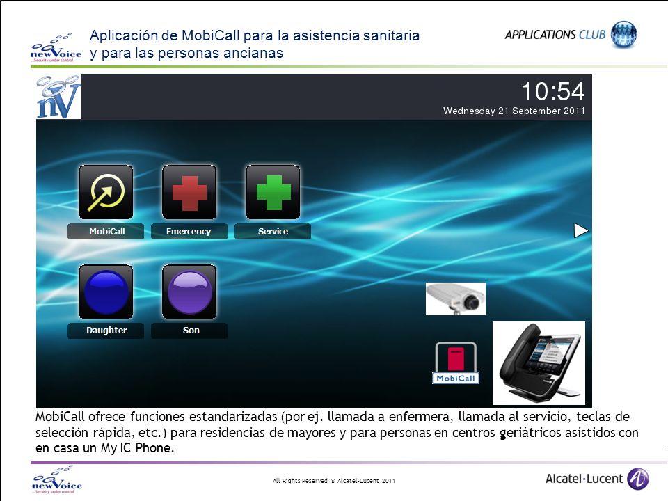 Aplicación de MobiCall para la asistencia sanitaria y para las personas ancianas