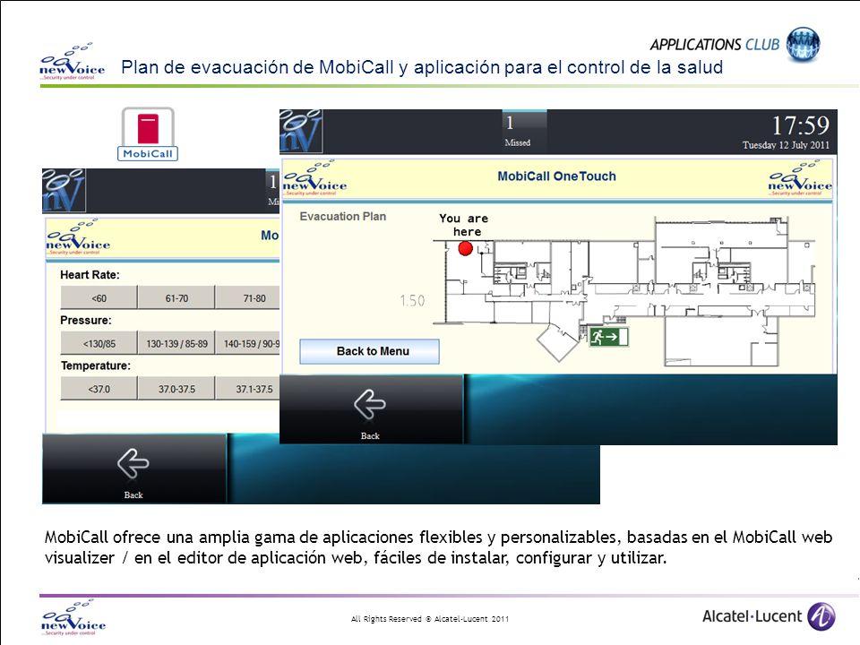 Plan de evacuación de MobiCall y aplicación para el control de la salud