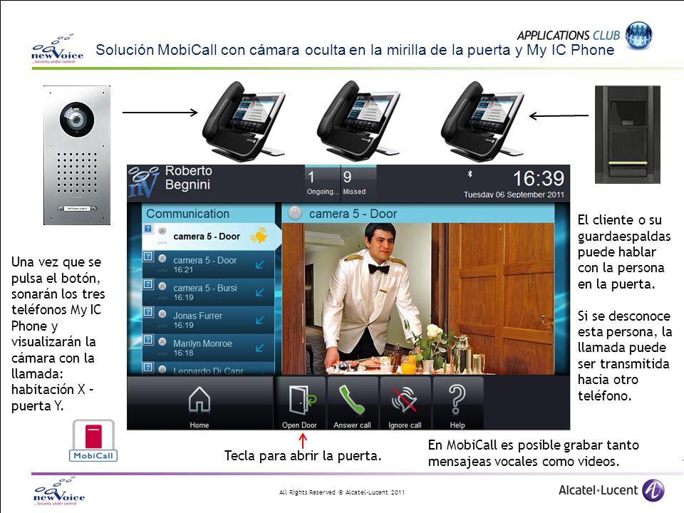 Solución MobiCall con cámara oculta en la mirilla de la puerta y My IC Phone
