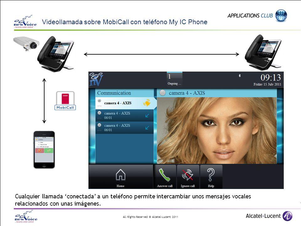 Videollamada sobre MobiCall con teléfono My IC Phone