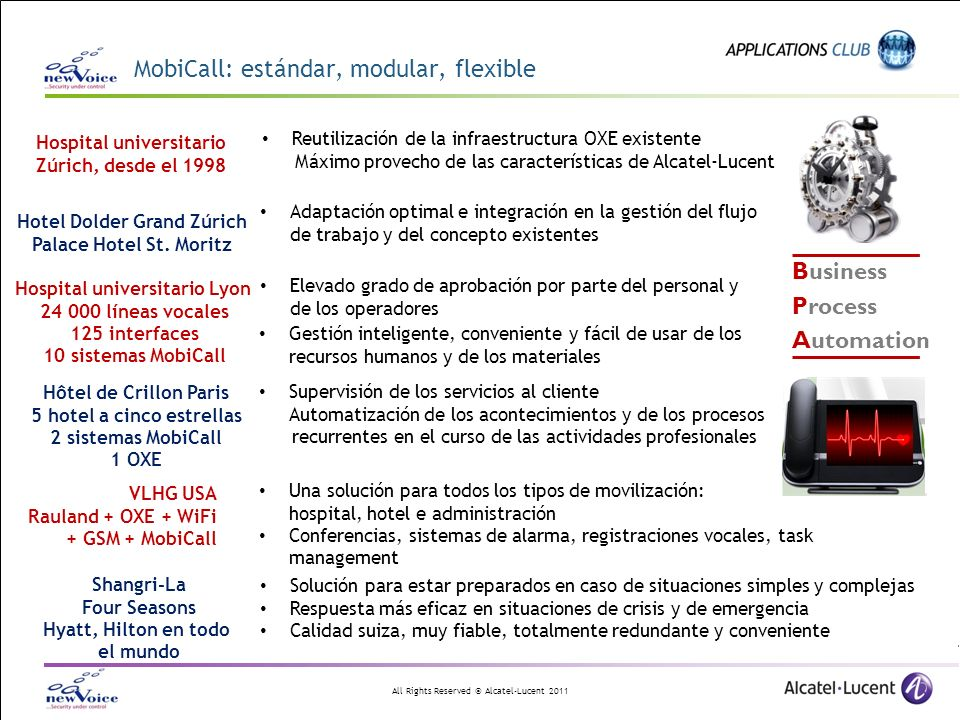 MobiCall: estándar, modular, flexible