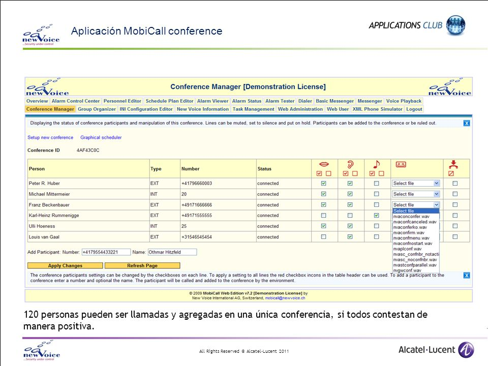 Aplicación MobiCall conference