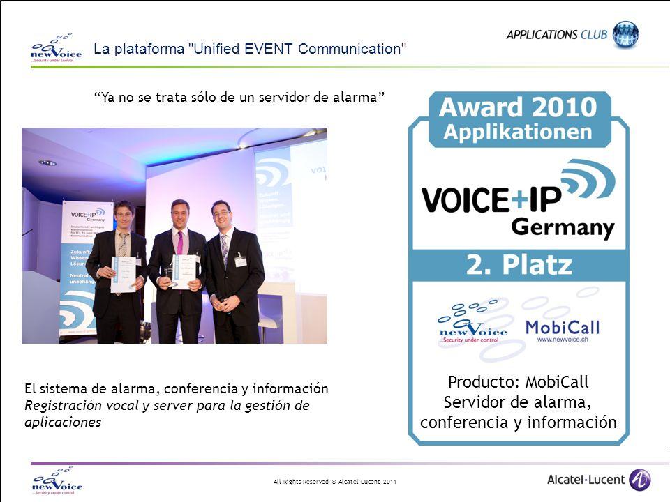 Producto: MobiCall Servidor de alarma, conferencia y información