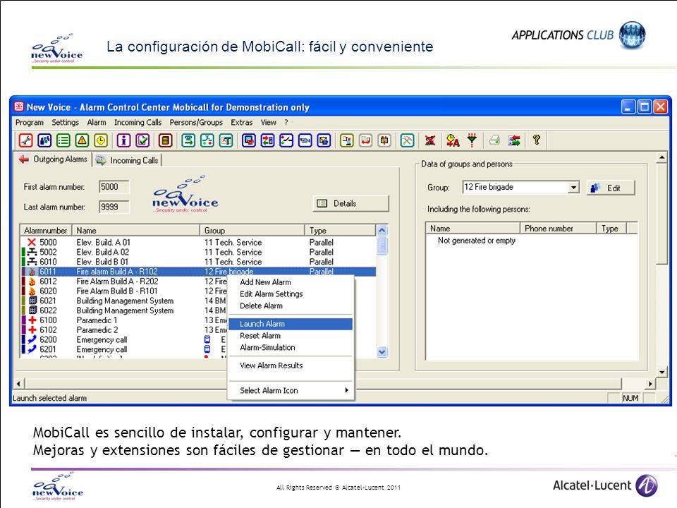 La configuración de MobiCall: fácil y conveniente