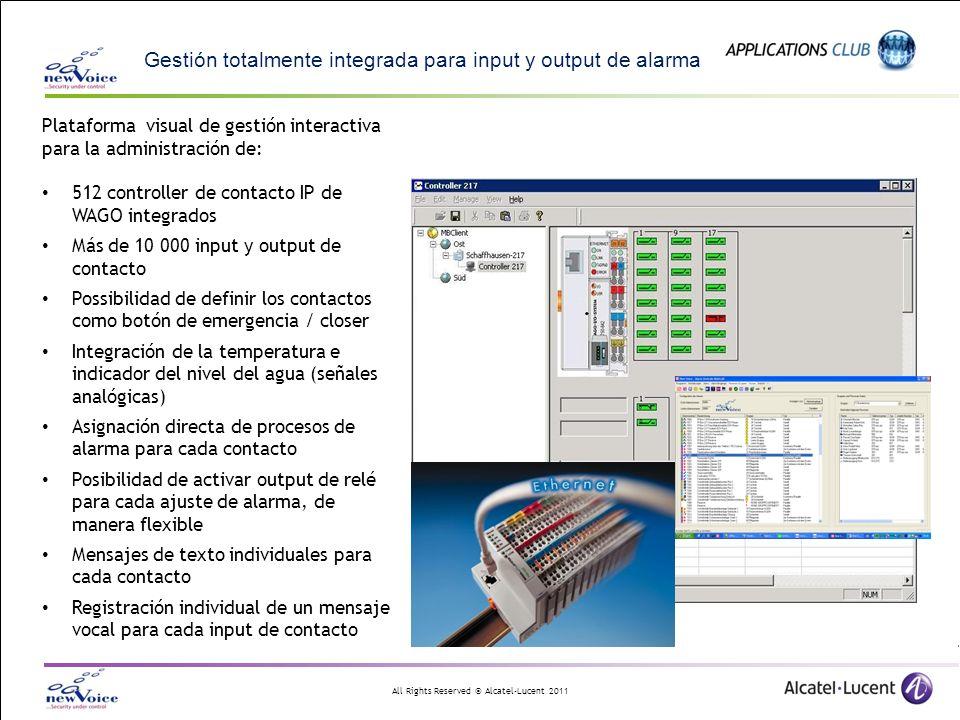 Gestión totalmente integrada para input y output de alarma