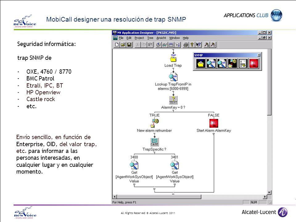 MobiCall designer una resolución de trap SNMP