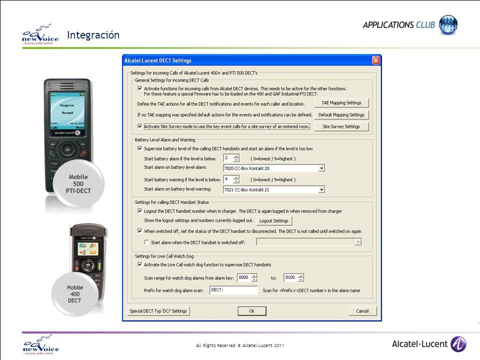 Integración Mobile 500 PTI-DECT 400 DECT