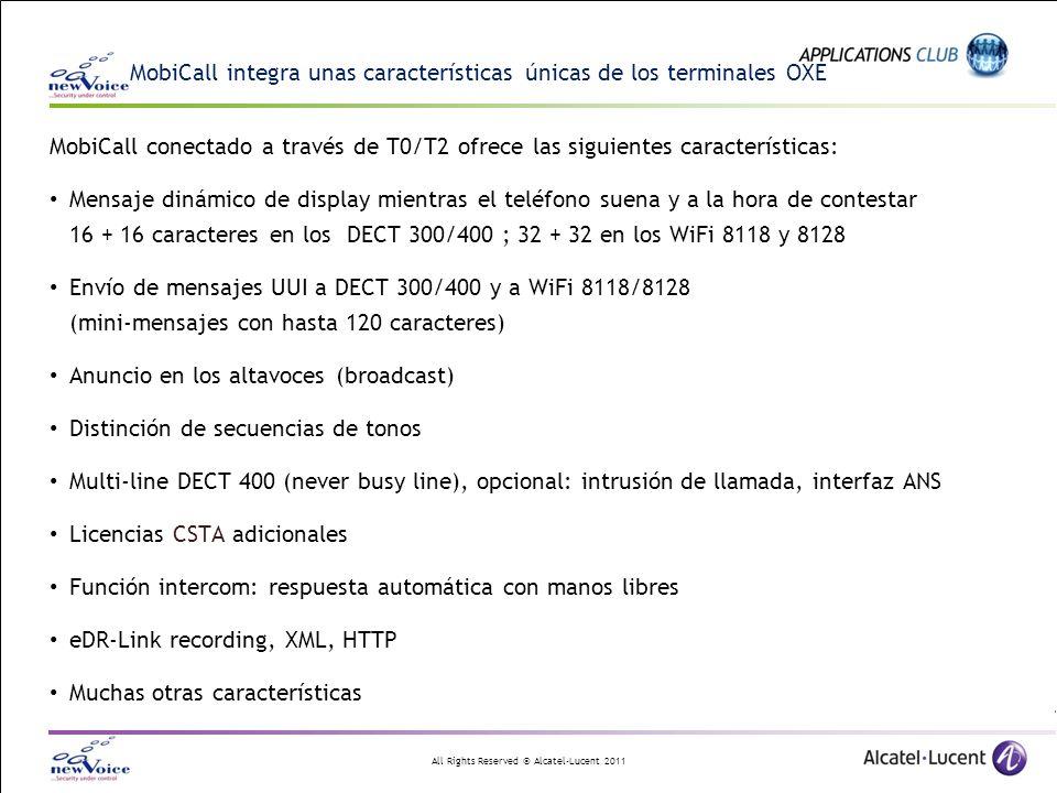 MobiCall integra unas características únicas de los terminales OXE