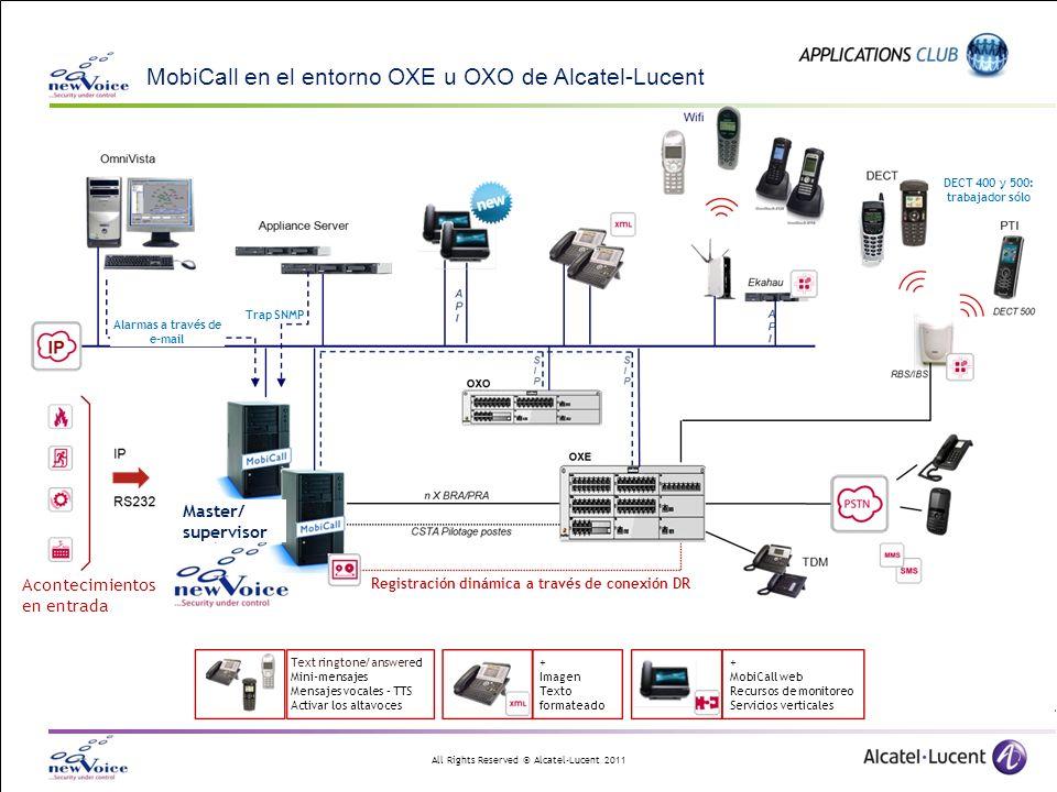 MobiCall en el entorno OXE u OXO de Alcatel-Lucent