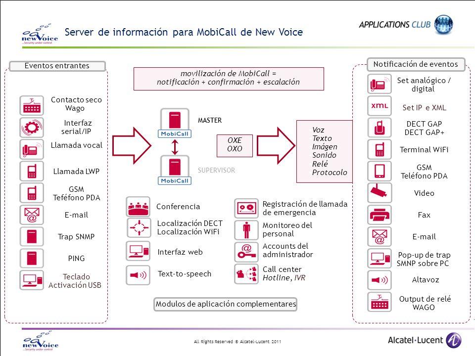 Server de información para MobiCall de New Voice