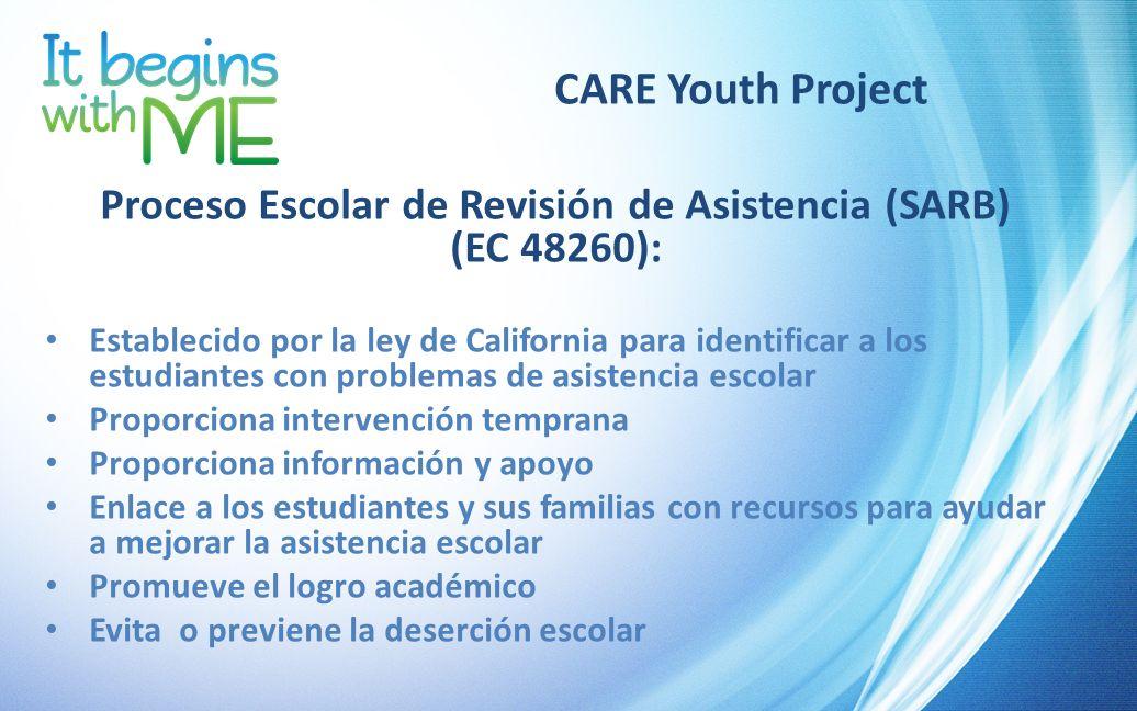 Proceso Escolar de Revisión de Asistencia (SARB) (EC 48260):