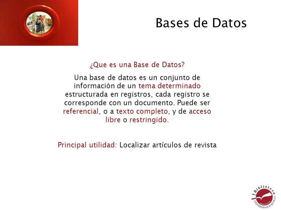 Bases de Datos ¿Que es una Base de Datos