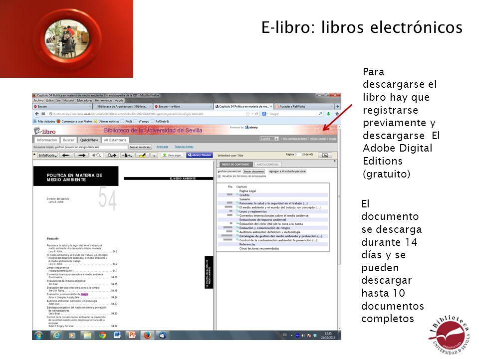 E-libro: libros electrónicos