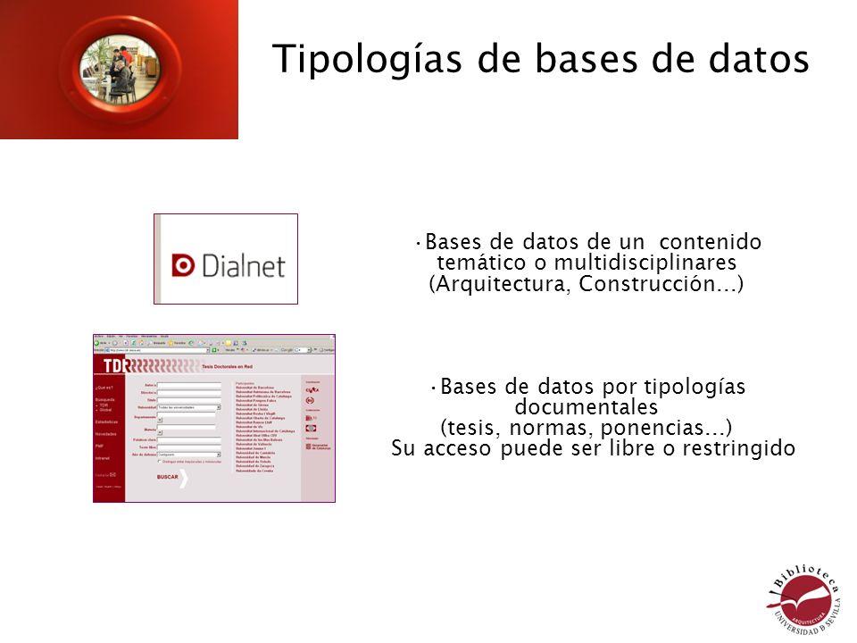 Tipologías de bases de datos