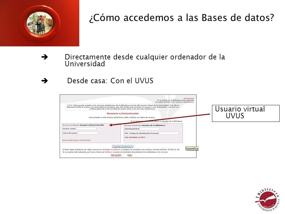 ¿Cómo accedemos a las Bases de datos