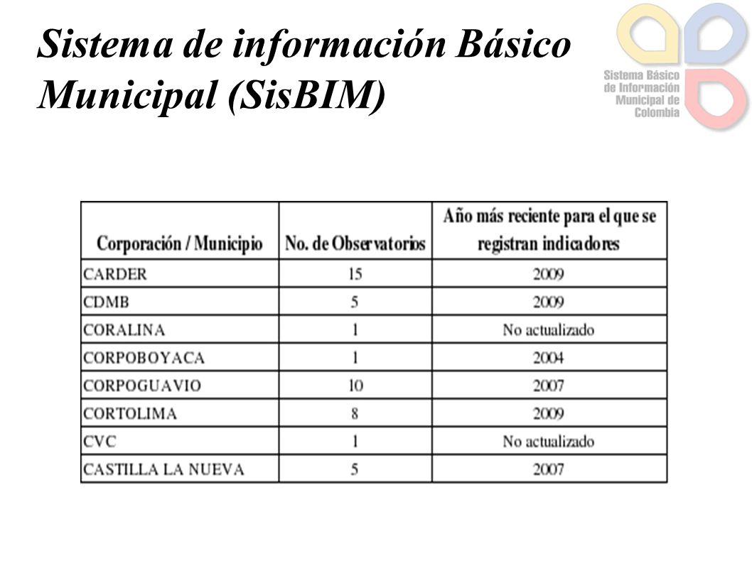 Sistema de información Básico Municipal (SisBIM)