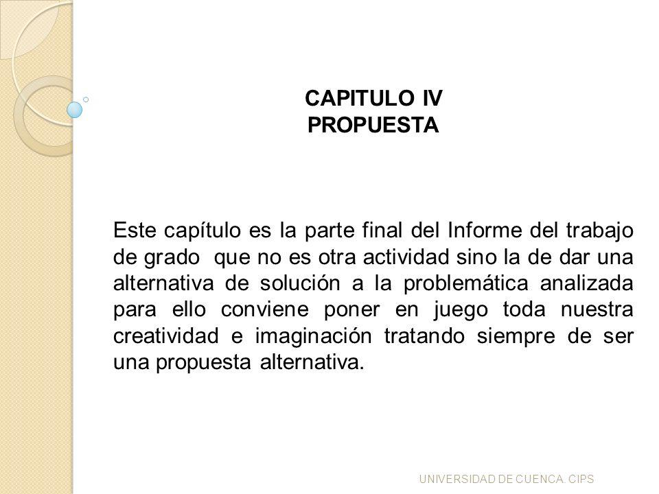 CAPITULO IV PROPUESTA.