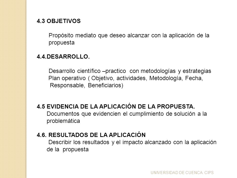 Propósito mediato que deseo alcanzar con la aplicación de la propuesta