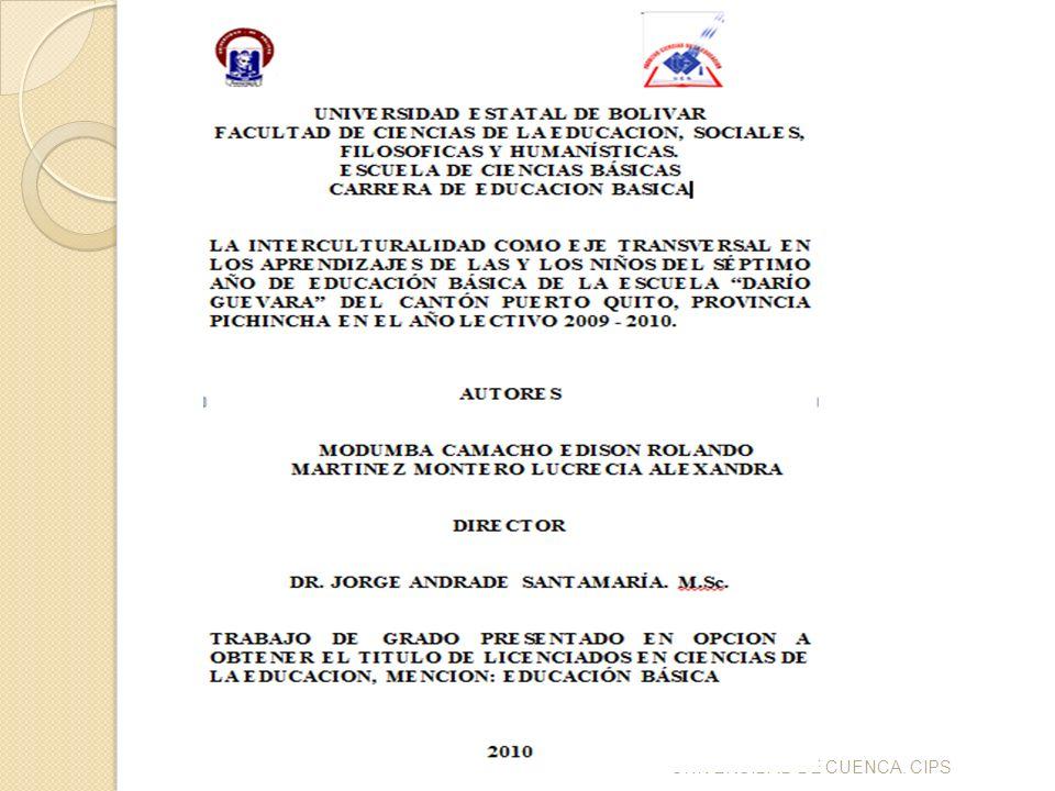 UNIVERSIDAD DE CUENCA. CIPS