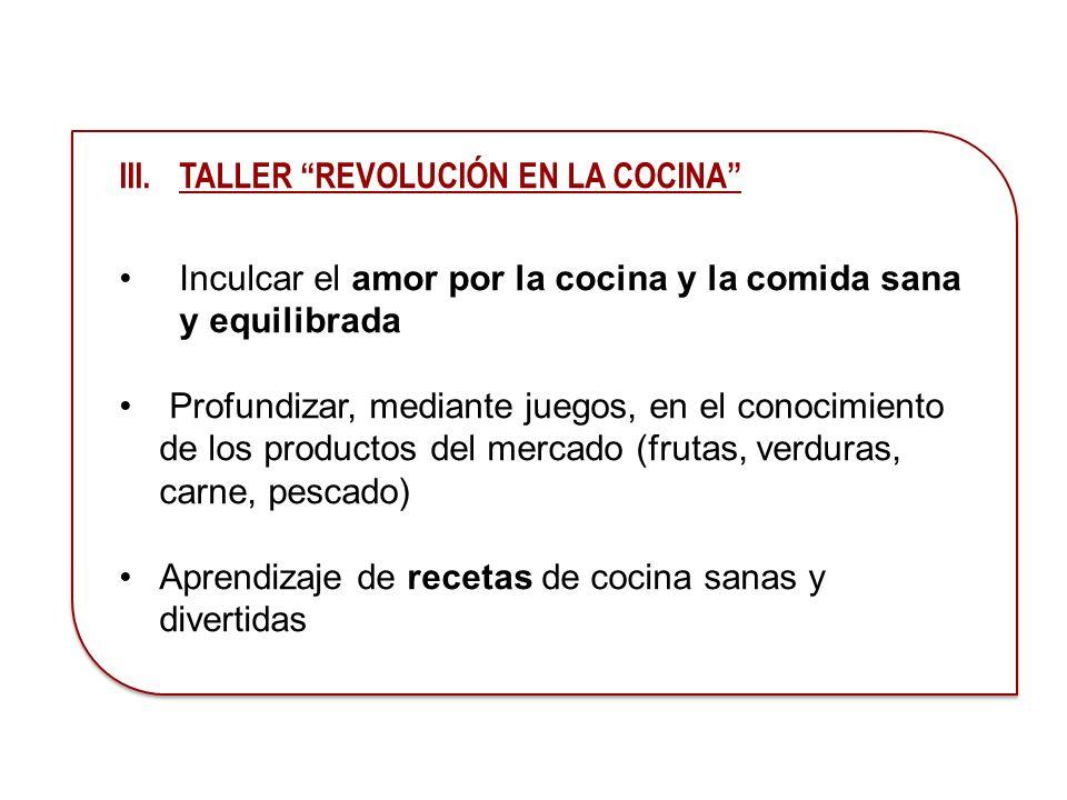 TALLER REVOLUCIÓN EN LA COCINA