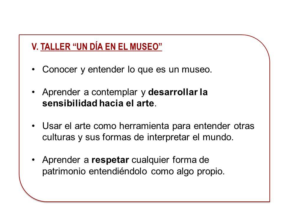 V. TALLER UN DÍA EN EL MUSEO