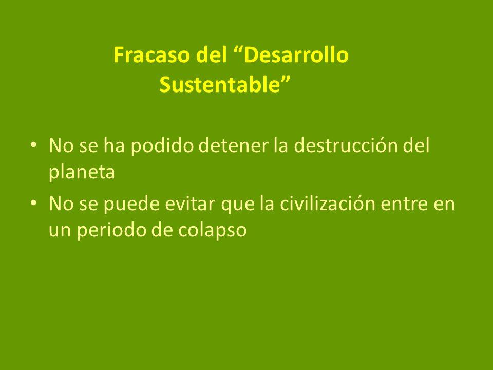 Fracaso del Desarrollo Sustentable