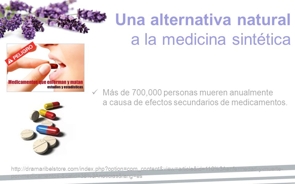 Una alternativa natural a la medicina sintética