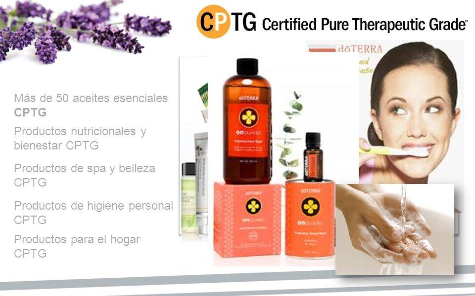Más de 50 aceites esenciales CPTG