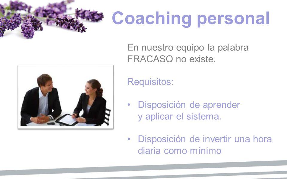 Coaching personal En nuestro equipo la palabra FRACASO no existe.