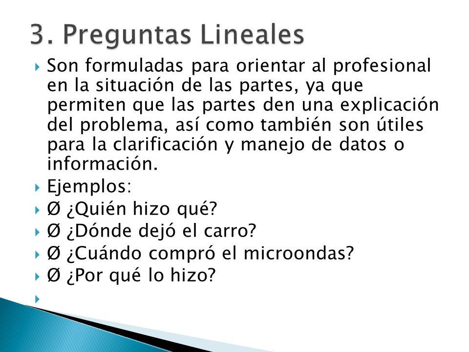 3. Preguntas Lineales