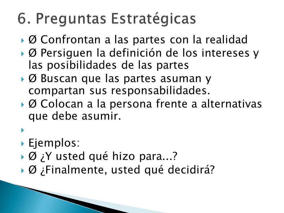 6. Preguntas Estratégicas