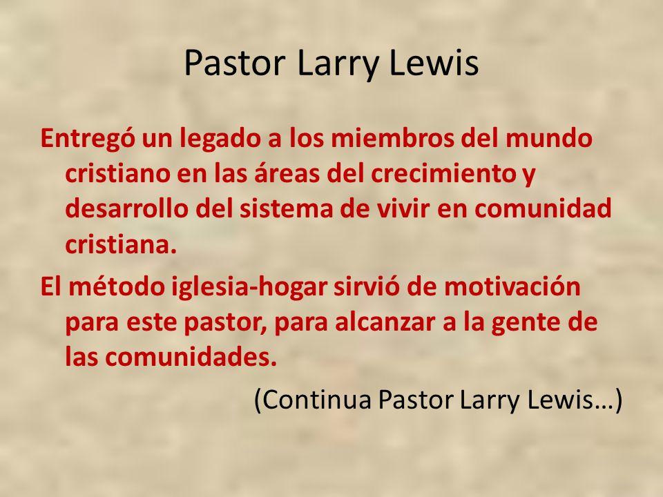 Pastor Larry Lewis